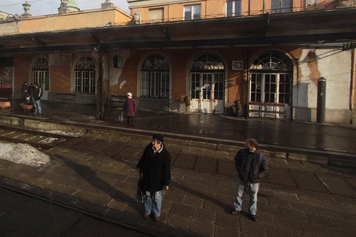 Passengers wait for trains at Békéscsaba station in Hungary
