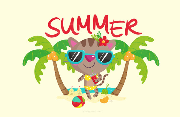 Cool Cat Summer merchandise