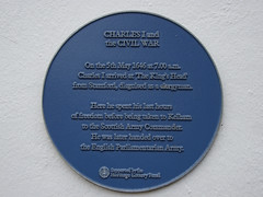 Photo of Charles I blue plaque