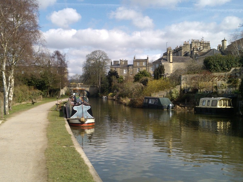 The canal in Bath Bath to Bradford-upon-Avon walk