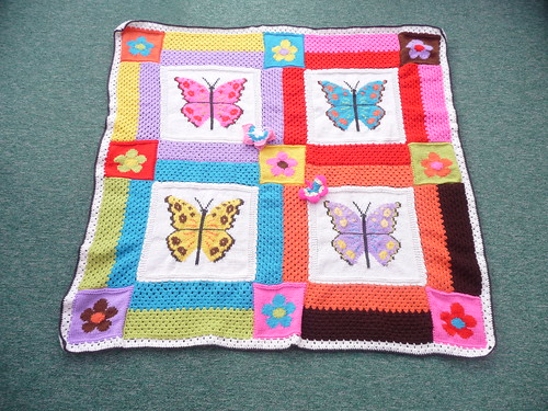 joyce18 has made and donated 'Butterfly Garden' a combination of Crochet and Knit. Thank you!