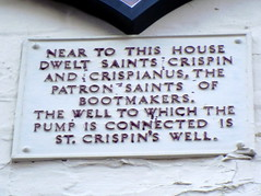 Photo of Crispin and Crispianus grey plaque