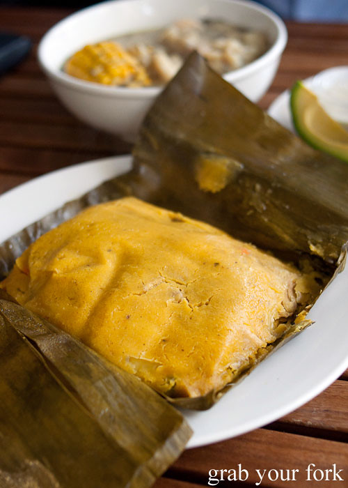 tamales in banana leaf from Colombia Organik Sydney