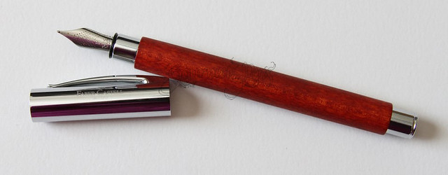 Faber-Castell Ambition Pearwood Fountain Pen - Fine Uncapped