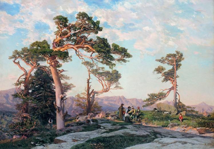5. Sierra de Guadarrama. Óleo sobre lienzo, 1869. Obra de Martín Rico