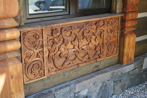 German Relief Wood Carving  /  Old Church Carving