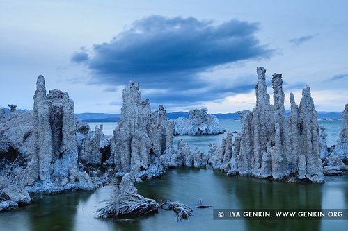 Lake Mono at Dusk, Mono Lake Tufa State Reserve, Eastern Sierra, Mono County, California, USA