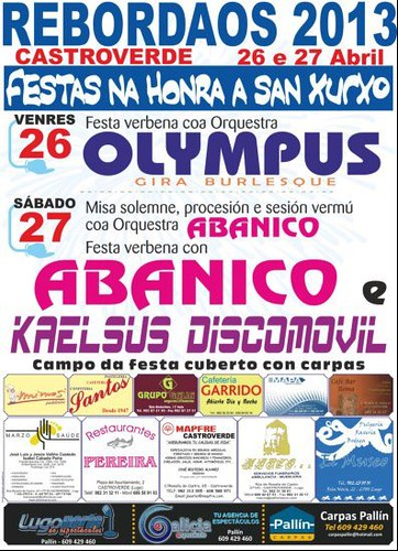 Castroverde 2013 - Festas de San Xurxo en Rebordaos - cartel
