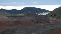 Cinder cones and a river of lava