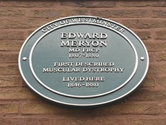 Photo of Edward Meryon green plaque