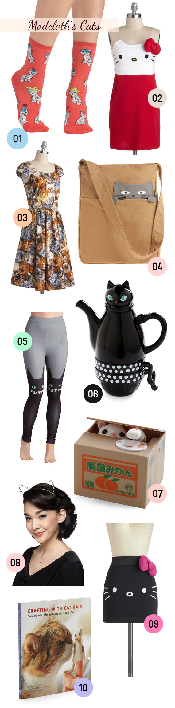 modcloth's cat products