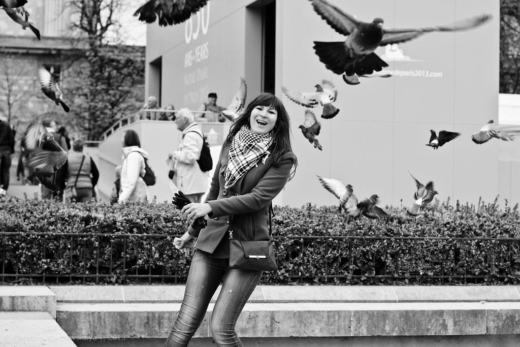 Sashka and Pigeons!