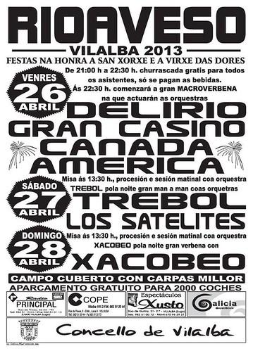 Vilalba 2013 - Festas de San Xorxe en Rioaveso - cartel