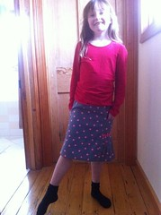 Miss C in size 6 Music Class skirt.
