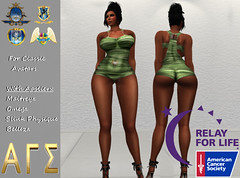 AGS INC Exclusive Womens Bodysuit Overalls With Appliers