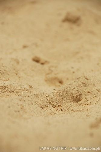 Fine sand of Tiamban Beach in Romblon Island, Romblon Province, Philippines
