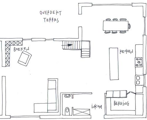 keuken tekening
