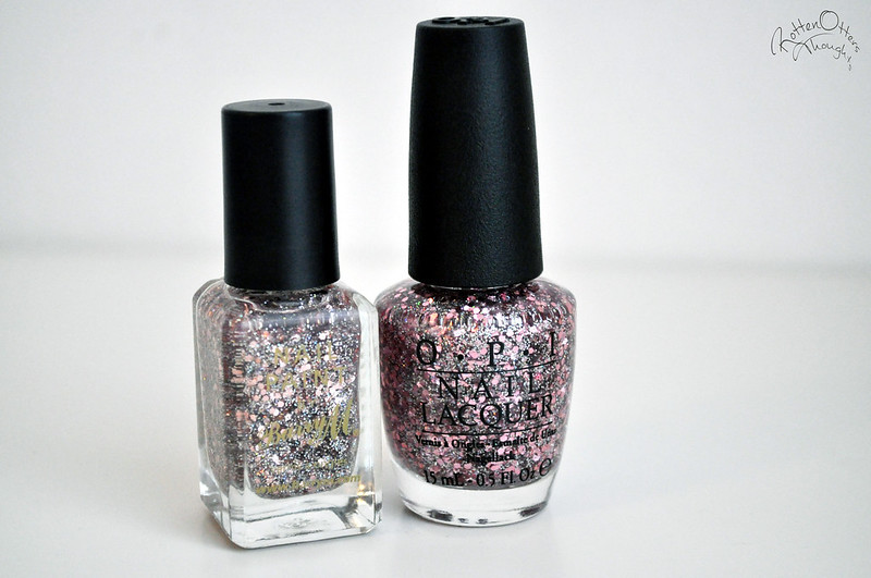 dupe opi pink yet lavender barry m rose quartz nail polish rottenotter rotten otters thoughts blog 3