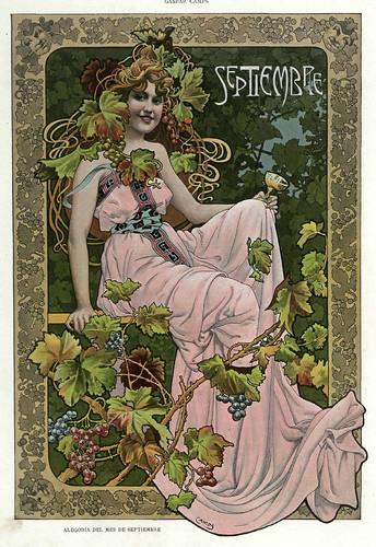 009-Alegoria del mes de Septiembre- Gaspar Camps-Revista Álbum Salón-Enero de 1901 -Hemeroteca de la Biblioteca Nacional de España