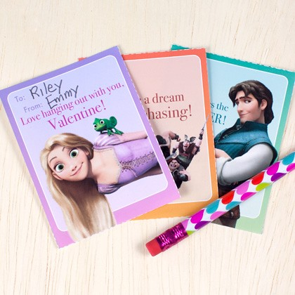 Tangled (Rapunzel and Flynn Rider) Valentine's Cards