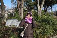 寒い中公園ウォーキング