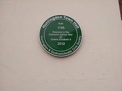 Photo of Huntingdon Town Hall green plaque
