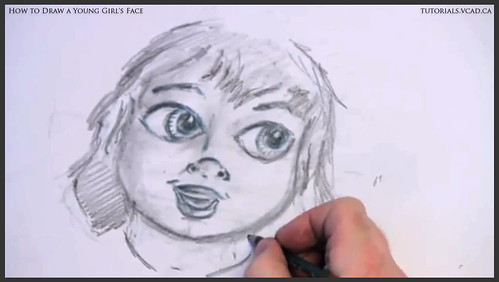 learn how to draw a young girls face 019