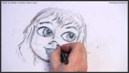learn how to draw a young girls face 018