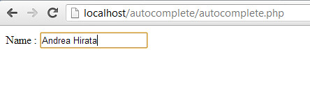 Autocomplete PHP