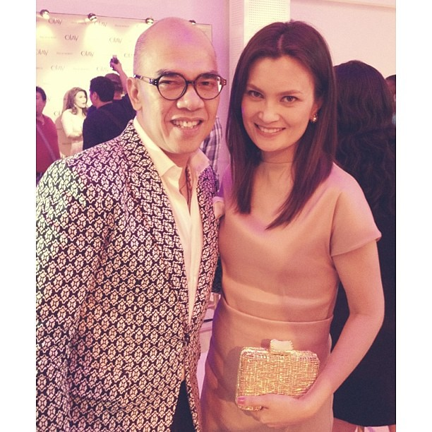 "With the awesome, everybody's ""Tito"" - Boy Abunda. At #olayconversations #olayph #pgbeauty"