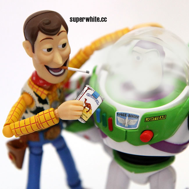 Heavy smokers! But then, because of his friend Woody, Buzz was not able to quit smoking.
