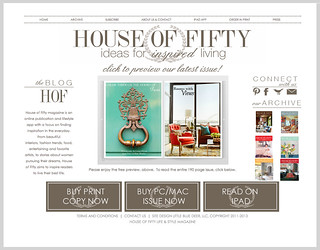My photos featured in the online magazine House of Fifty