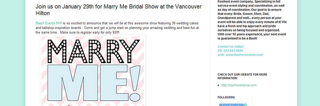 Bash! Weddings and Events Join us on January 29th for Marry Me Bridal Show at the Vancouver Hilton - Google Chrome 2182013 24025 PM