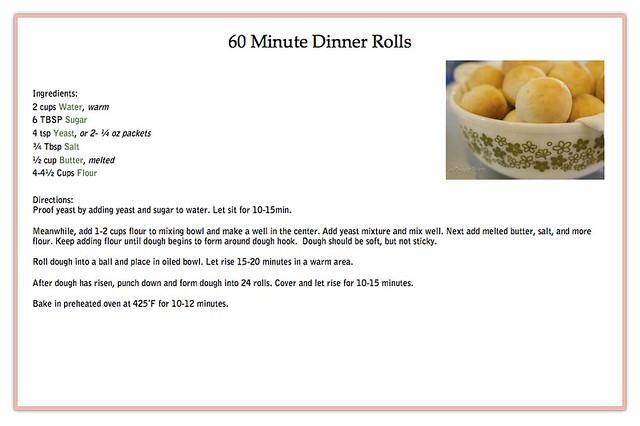 60 Minute Dinner Rolls Recipe copy