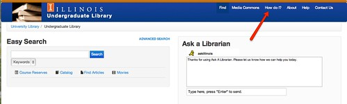 The How Do I page is linked in the top-most menu on the UGL homepage.