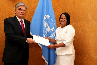 NEW PERMANENT REPRESENTATIVE OF CUBA PRESENTS CREDENTIALS TO THE DIRECTOR-GENERAL OF THE UNITED NATIONS OFFICE AT GENEVA