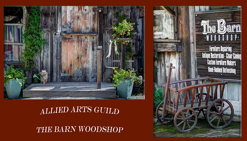 Diptych #6 - The Barn Woodshop at Allied Arts Guild