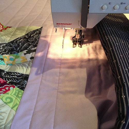 straight line #quilting