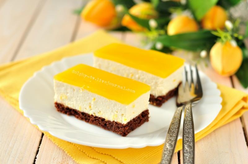 Orange Quark Cake / Творожный торт с апельсинами