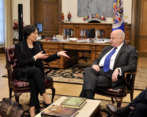 OAS Secretary General Meets with President of INTERPOL