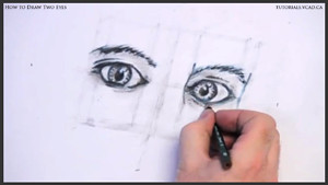 how to draw two eyes