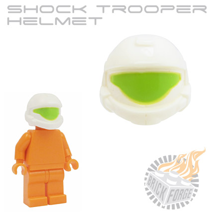 Shock Trooper Helmet - White (lime visor print)