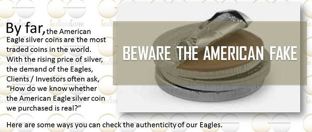 American Eagle silver coin real vs fake silver bullion authentic vs fake