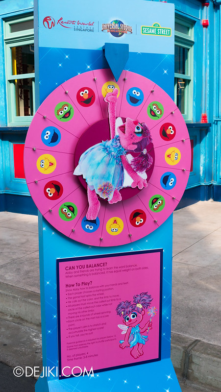 Street Game 1 - Abby Cadabby's Balance / Twister wheel