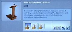 Salurays Speakers' Podium