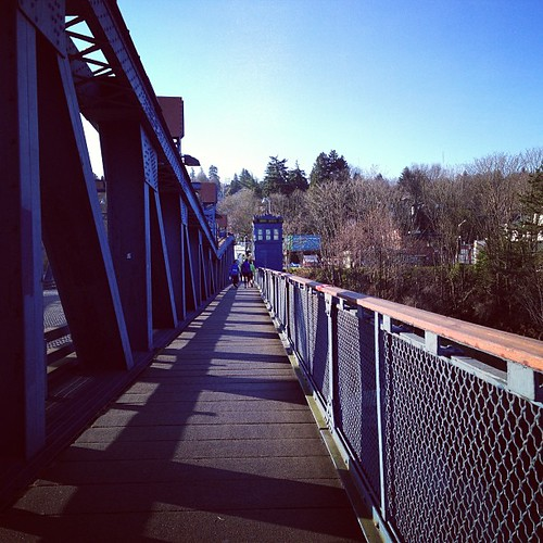 9 miles at The Fremont Bridge #latergram