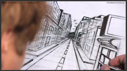 learn how to draw city buildings in perspective 041