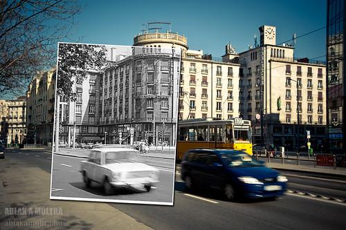 Budapest, VII. Astoria kereszteződés, Georgia (MTA) bérház fortepan_19324