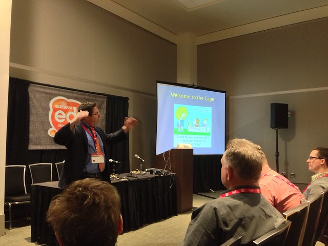 "Rick Hess @AEIeducation discussing ""Cage-Busting Leadership"" [PIC] #sxswedu"