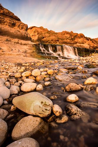 sunset landscape photography golden waterfall stream mills osmington